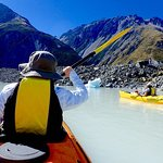 Kayaking on Tasman Lake
