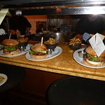 Serving Area With Burgers