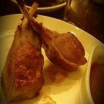 Roast rack of lamb, rosemary and garlic jus