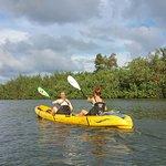 Kayaking on the river (beautiful!)