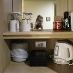 The tiny kitchenette area