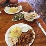 Shwarma meal (above)  Metuvlun meal (below) - highly recommended