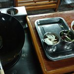 Each student got their own station like this to cook their meal.