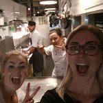 waitress and chef