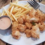 kids calamari and chips