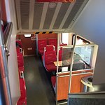 Comfortable seats on two levels with great views of the scenery between Albuquerque and Santa Fe