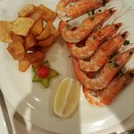King Prawns and Canarian potatoes