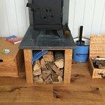 Cosy wood-burner in the Shepherd's Hut