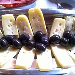Home made cheese and olives