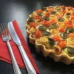 Roasted vegetable and ricotta tart (Gluten free)