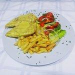 Chicken Don Carlos with ham in mustard cream