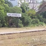 Disused station sign.