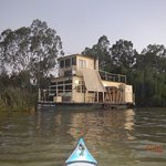 """The """"Julie Fay"""" docked on the open Murray. River paddle boats the backbone of the river system."""