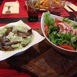 Ravioles aux cèpes et sa salade