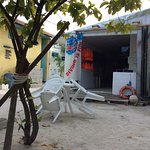 Gulhi diving school is on the Bikini beach and the staff are around the beach
