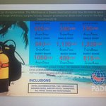 Diving and accommodation is included in the package
