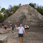 Coba temple. One of the last that are climbable (at the moment). Quite a climb !