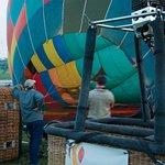 Firing up the ballon...