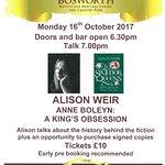 Alison Weir October talk
