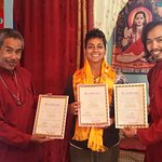 Baba, Kendra and myself: I received my Certificate for Reiki 3A, Lama Fera and Mudra Vigyan