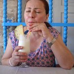 Pina Colada. Her face says it all!
