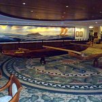 outrigger canoe in the main lobby