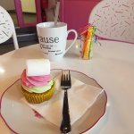 Une super visite : cupcake pistache et framboise