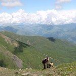 Withe shepherd in Khevrureti mountains