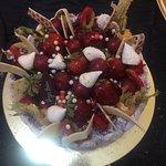 Charlotte de Frutas Vermelhas