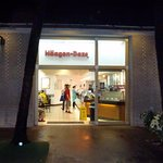 front of & entrance to Haagen Dazs