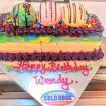 ice cream log cake for your next birthday celebration