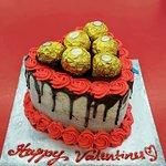 heart shaped ice cream cake