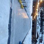 Eisstockschiesen auf der Hotel eigenen Bahn