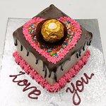 Love Valentines day celebration cakes
