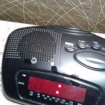 Candle wax and other disgusting mess on the alarm radio