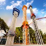 Take a ride on the first choose-your-thrill triple tower - Hershey Triple Tower!