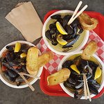 Tuesday is MUSSEL NIGHT: 3 Ways with grilled baguette and choice of 3 sauces
