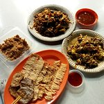 local favorites including Char Koay Teow, Oyster Omelette, Sotong Bakar and Muar Chee