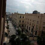 Vistas desde la terraza  de la habitación  hotel Anfora de Melilla.