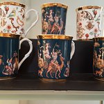 The mugs with art work.