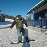 Me giving a snowboard lesson for the camera