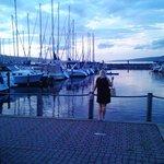 Evenings are gorgeous on Lake Seneca in Watkins glen!