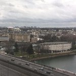 View towards Paris from a room on floor 11