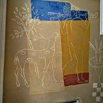 Pintura de Jorge Gay, en el techo de La Flor