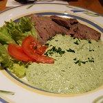 Sehr empfehlenswert ist auch der Tafelspitz mit grüner Soße ...