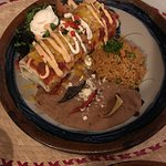 Enchilada, delicious and filling. perfectly cooked