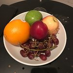 half eaten fruit, broken lamp shade and a door that cannot shut due to snapped plastic