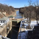 Erie Canal locks and park.