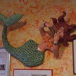 ceramic wall decoration of a mermaid