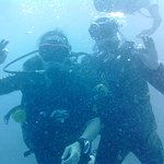Us on our dive with TopDive in Bora Bora